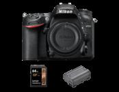 Nikon D7200 body + card Lexar 64GB + Nikon EN-EL15a
