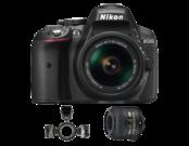 Pachetul medicului dentist - Nikon D5300 Kit AF-P 18-55mm VR + 40mm f/2.8G ED AF-S DX Micro NIKKOR + R1C1 Commander Kit