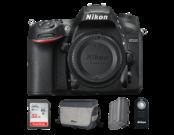 Nikon D7200 body + acumulator Nikon EN-EL15a + card SanDisk 32GB SDHC Ultra CLS10 80MB/s UHS-I + geanta Nikon CF-EU11 + telecomanda Nikon ML-L3
