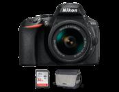 Nikon D5600 Kit AF-P 18-55mm VR + card SanDisk 32GB SDHC Ultra CLS10 80MB/s UHS-I + geanta Nikon CF-EU11 SLR System Bag
