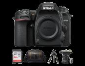 Nikon D7500 body + card SanDisk 64GB SDXC Ultra CLS10 80MB/s UHS-I + geanta Lowepro Adventura SH 160 II + trepied JOBY Gorillapod SLR-Zoom Tripod + Ballhead (gray)