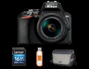 Nikon D3500 Kit AF-P 18-55mm VR + card 16GB + geanta + stick USB 32GB