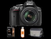 Nikon D5300 Kit AF-P 18-55mm VR  + card 32GB + geanta + stick USB 32GB