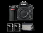 Nikon D750 body + 2 x card Lexar 32GB SDHC CLS10 UHS-II 150MB/s + geanta Nikon CF-EU11