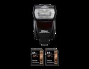 Nikon SB-700 + 2 x card 64GB