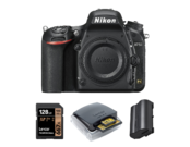 Nikon D750 body + card 128GB + card reader + acumulator Nikon