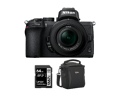 Nikon Z50 kit 16-50mm VR + card 64GB + geanta Lowepro