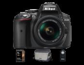D5300 Kit AF-P 18-55mm VR (black) + card Lexar 16GB SDHC HP CLS10 UHS-I 95MB/s + geanta Nikon CF-EU11 + telecomanda Nikon ML-L3