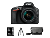 D5600 Kit AF-P 18-55mm VR (black )+ Card 32GB+ Geanta + Trepied Joby 3K