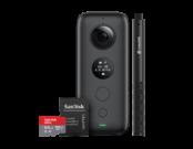 Insta360 ONE X + Selfie Stick + card 64GB mSDXC