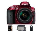 D5300 Kit AF-P 18-55mm VR (red) + card Lexar 16GB SDHC HP CLS10 UHS-I 95MB/s + geanta Nikon CF-EU11 + telecomanda Nikon ML-L3