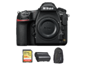Nikon D850 body + card 128GB SDXC + acumulator EN-EL15b + rucsac Nikon