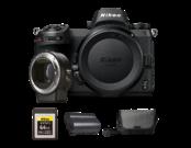 Nikon Z6 body + FTZ + card 64GB XQD + acumulator EN-EL15b + geanta Nikon