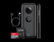 Insta360 ONE X + card 64GB mSDXC + Selfie Stick + cablu microUSB