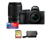 Nikon Z50 Dual Zoom Kit (16-50mm VR + 50-250mm VR) + card 64GB SDXC + geanta Nikon