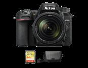 Nikon D7500 kit 18-140mm VR + card 64GB SDXC + geanta Nikon