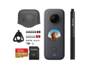 Insta360 ONE X2 + card 128GB mSDXC + Selfie stick + Bike bundle + Lens Cap