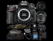 D7200 body + 85mm f/1.8G AF-S NIKKOR + card Lexar 32GB SDHC CLS 10 UHS-I 45MB/s + geanta Lowepro Adventura SH 160 II + telecomanda Nikon ML-L3