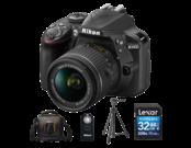 Nikon D3400 Kit AF-P 18-55mm VR (black) + card Lexar 32GB SDHC CLS 10 UHS-I 45MB/s + geanta Lowepro Adventura SH 120 II + trepied Velbon EX-330Q + telecomanda Nikon ML-L3