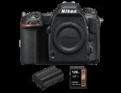 Nikon D500 body + card Lexar 128GB SDXC CLS10 UHS-I 95MB/s + acumulator Nikon EN-EL15