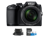 Nikon COOLPIX B500 (black) + card Lexar MicroSDHC 16GB CLS10 UHS-I 45MB/s + adaptor SD + geanta Nikon CS-P08