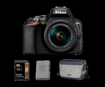Nikon D3500 kit AF-P 18-55mm VR + card 32GB + acumulator + geanta Nikon
