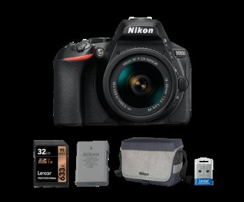 Nikon D5600 kit AF-P 18-55mm VR + card 32GB + acumulator + stick 32GB + geanta Nikon