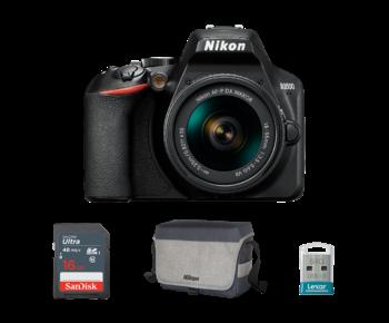 Nikon D3500 kit AF-P 18-55mm VR + card 16GB + stick 64GB + geanta Nikon