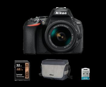 Nikon D5600 kit AF-P 18-55mm VR + card 32GB + stick 64GB + geanta Nikon