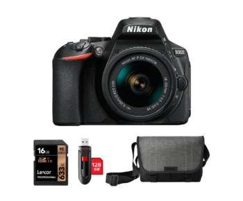 Nikon D5600 kit AF-P 18-55mm VR + card 16GB + stick 128GB + geanta Nikon