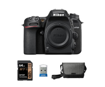 Nikon D7500 body + card 64GB + stick 32GB + geanta Nikon