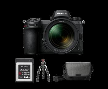 Nikon Z6 kit 24-70mm f/4 S + card 64GB XQD + trepied + geanta Nikon