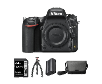 D750 body + Card 64GB+ Geanta + EN-EL15b + Trepied Joby 3K