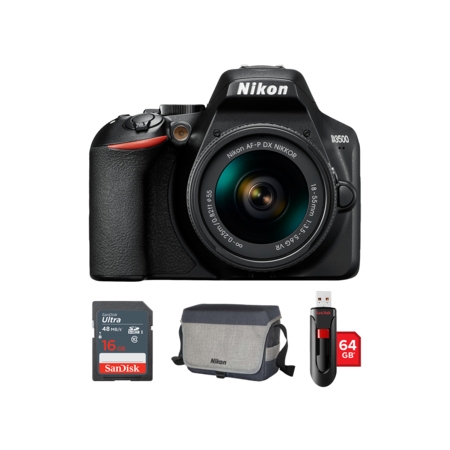 Nikon D3500 Kit AF-P 18-55mm VR + card 16GB + geanta + stick USB 64GB
