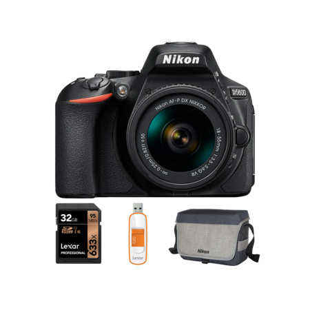 Nikon D5600 Kit AF-P 18-55mm VR + card 32GB + geanta + stick USB 32GB