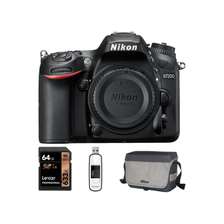 Nikon D7200 body + card 64GB + geanta + stick  USB 128GB
