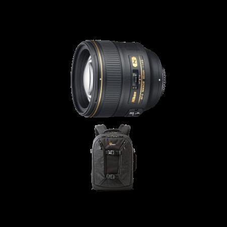 85mm f/1.4G AF-S NIKKOR + rucsac Lowepro Pro Runner 350 AW II