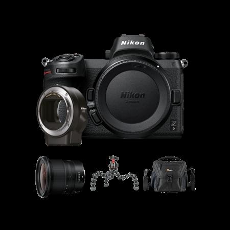 Pachet vlogging Nikon Z6 + FTZ + Z 14-30mm f/4 S NIKKOR + Lowepro Nova 140 AW II + JOBY GorillaPod 5K Kit
