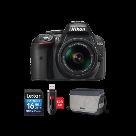 Nikon D5300 kit AF-P 18-55mm VR + card 16GB + stick 128GB + geanta Nikon