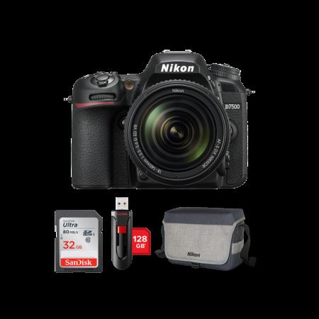 Nikon D7500 kit 18-140mm VR + card 32GB + stick 128GB + geanta Nikon