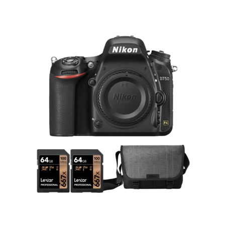 Nikon D750 body + 2 x card 64GB + geanta Nikon
