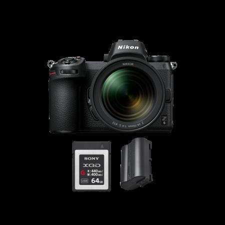 Nikon Z6 kit 24-70mm f/4 + card 64GB XQD + acumulator Nikon