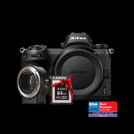 Nikon Z6 body + FTZ + CADOU card 64GB XQD