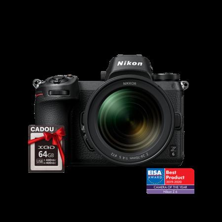 Nikon Z6 kit 24-70mm f/4 S + CADOU card 64GB XQD