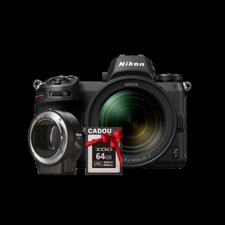 Nikon Z7 kit 24-70mm f/4 S + FTZ + CADOU card 64GB XQD
