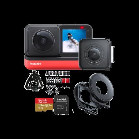 Insta360 ONE R Twin Edition + card 128GB mSDXC + Snow Bundle + Lens Guards