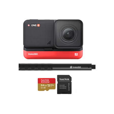Insta360 ONE R 4K Edition + card 64GB mSDXC + Selfie Stick