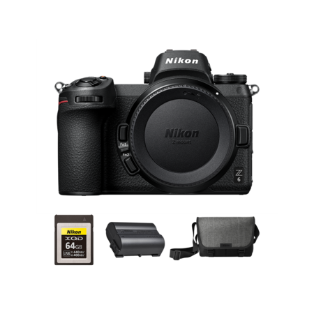 Nikon Z6 body + card 64GB XQD + acumulator EN-EL15b + geanta Nikon