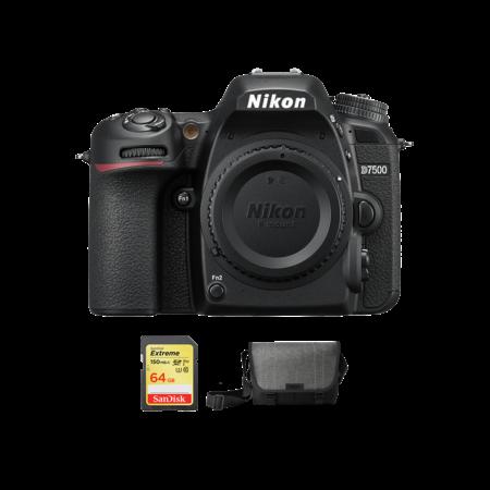 Nikon D7500 body + card 64GB SDXC + geanta Nikon