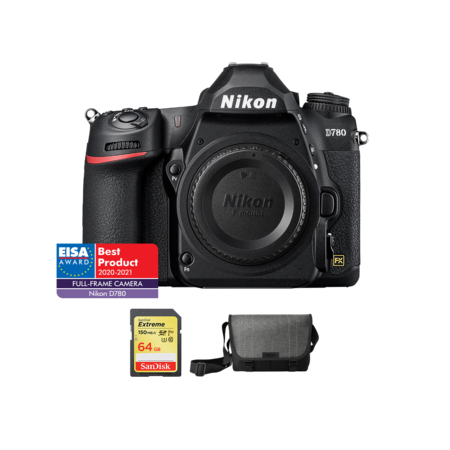 Nikon D780 body + card 64GB SDXC + geanta Nikon